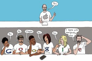 Steve Jobs and Googlers